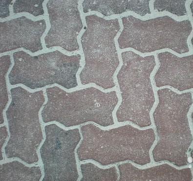 укладка тротуарной плитки волной