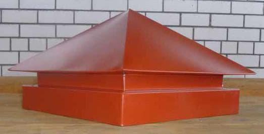 квадратные колпаки на столбы забора из металла