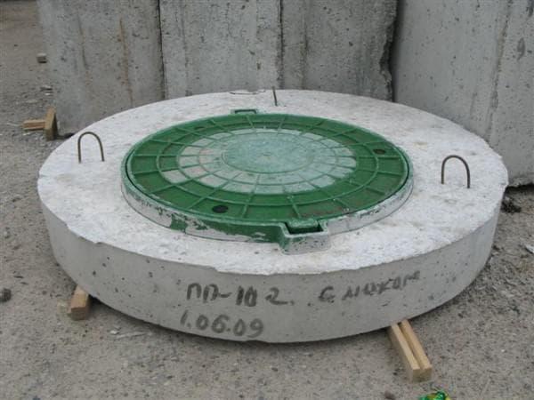 пластиковая крышка для бетонного колодца