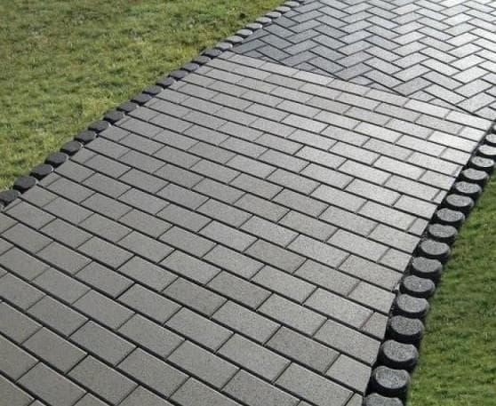 укладка тротуарной плитки прямоугольно