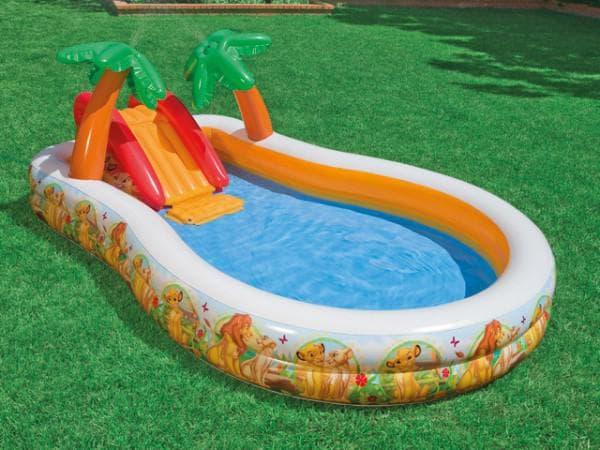 детский надувной бассейн с горками