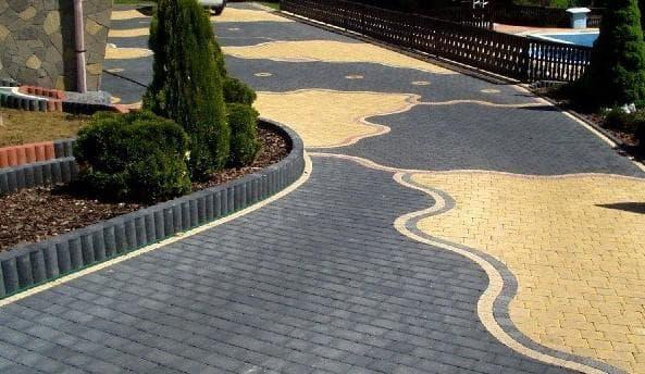 схема укладки тротуарной плитки для различных территорий