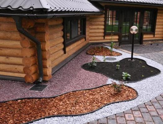 садовый бордюр кантри прямоугольная клумба