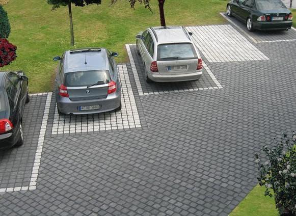 брусчатка варианты укладки под парковочные места