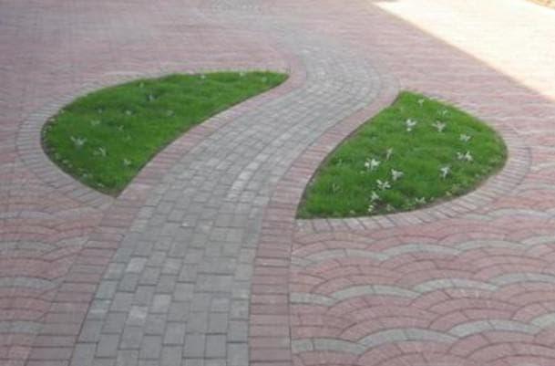 брусчатки в виде Методика газона или клумбы