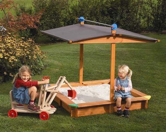 деревянной песочницы для детской площадки