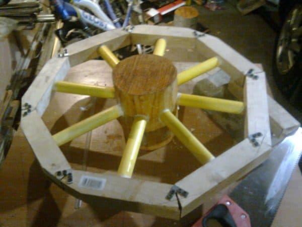 декоративная телега для сада своими руками колесо окончено