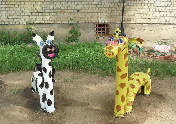 животное из досок для детской площадки