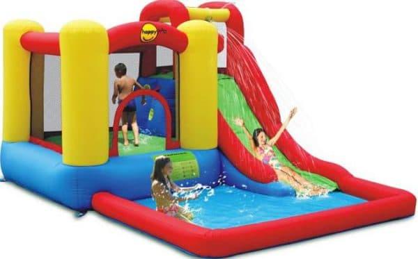 детский надувной бассейн с горками большого размера