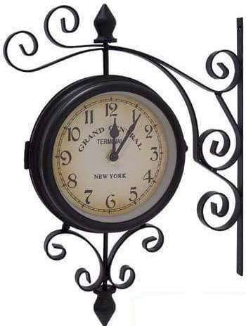 часы с двумя циферблатами на обеих их сторонах