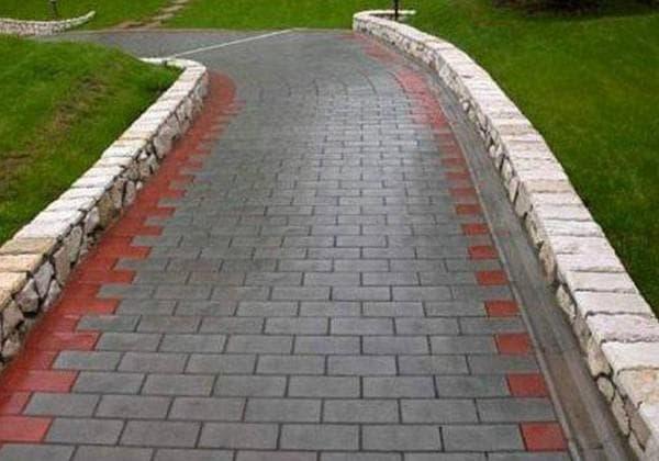 классическая схема укладки тротуарной плитки