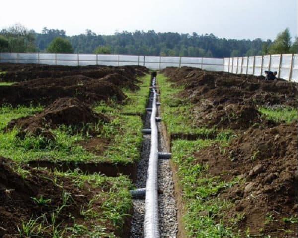 Организация отвода воды