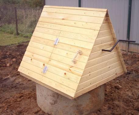 домик для колодца своими руками из дерева