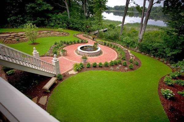 садовый бордюр кантри для газона