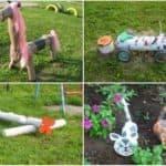 поделки из бревен для детской площадки