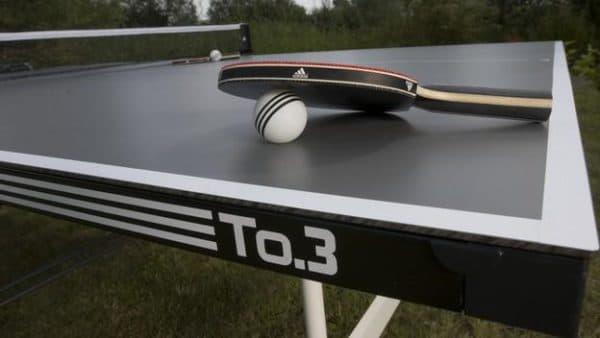 всепогодный теннисный стол для дачи из меламина