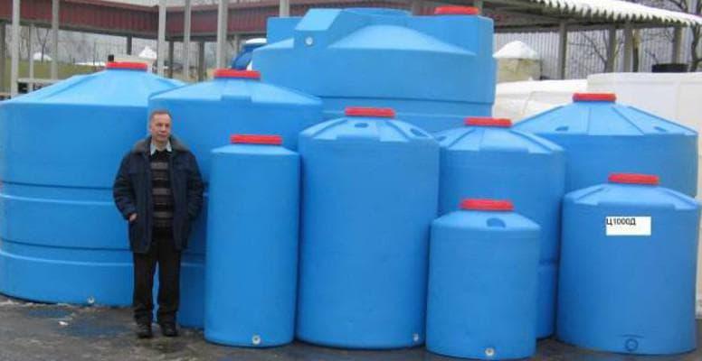 пластиковые бочки для воды на дачу больших размеров