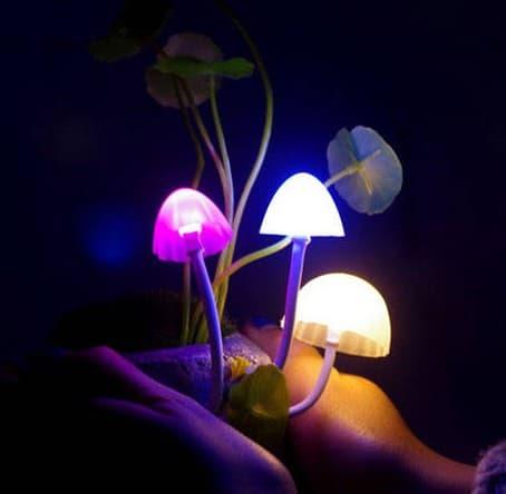 декоративные светильники грибы для дачи