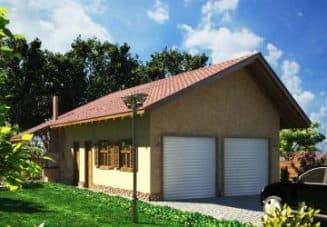 Проект гаража с баней под одной крышей