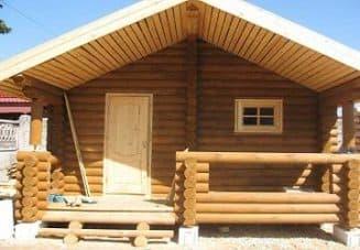 дом баня из оцилиндрованного бревна