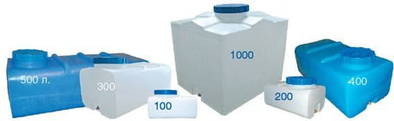 бак +для душа пластиковый 150 литров квадратный
