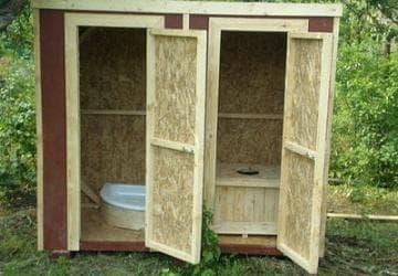совмещенный дачный душ и туалет