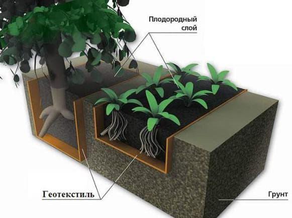применение геотекстиля в саду