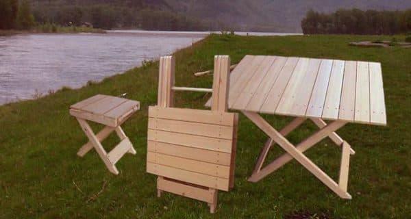 складная мебель для отдыха на природе