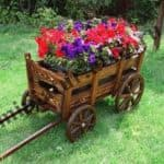 телега декоративная для сада
