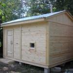 проект гаражей, бань, хозблок под одной крышей.