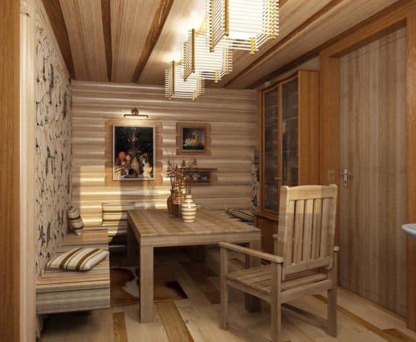 проект комнаты отдыха в бане