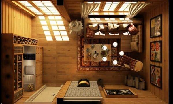 интерьер комнаты отдыха