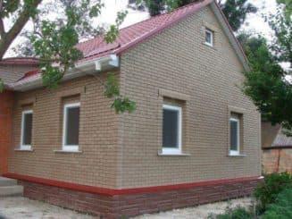 бежевые фасадные панели