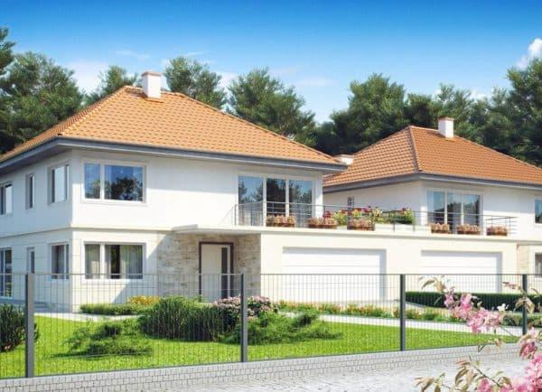 Двухэтажный дом на две семьи