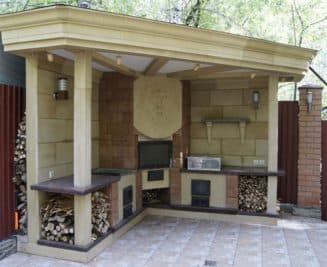 Летняя кухня современная
