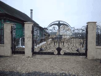 такие ворота выглядят очень богато
