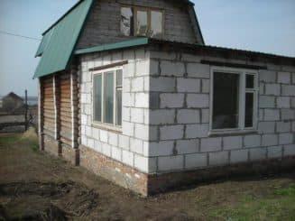 пристройка баня к дому