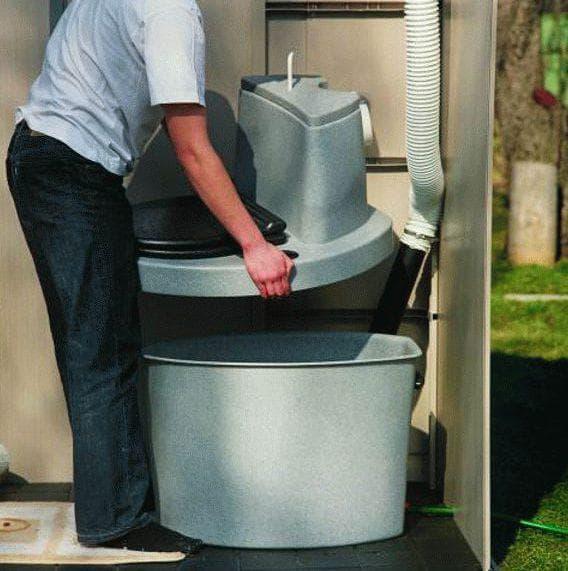 пластиковый корпус торфяного туалета для дачи