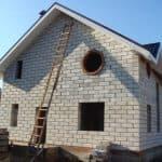 дома из пеноблоков с плоской крышей