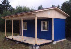 крыша для бытовки с террасой