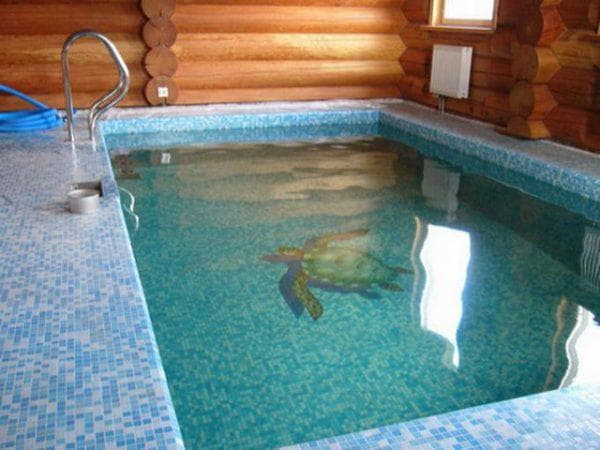 стационарный бассейн для бани
