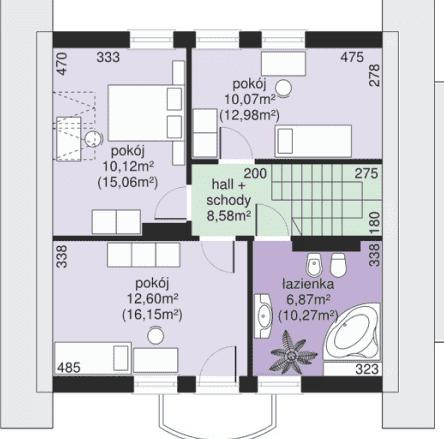дом с мансардой 89 м2
