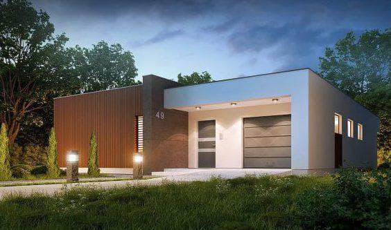 проект одноэтажного дома из газобетона бизнес класса