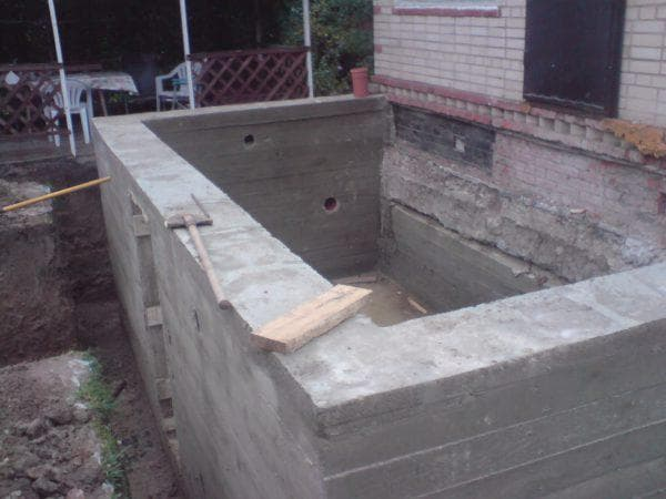 ленточный фундамент для пристройки к кирпичному дому
