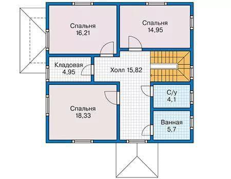 дом с мансардой 90 м2