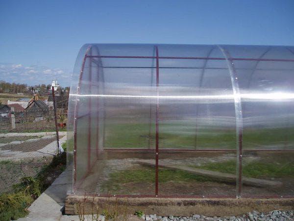 теплица из прозрачного поликарбоната