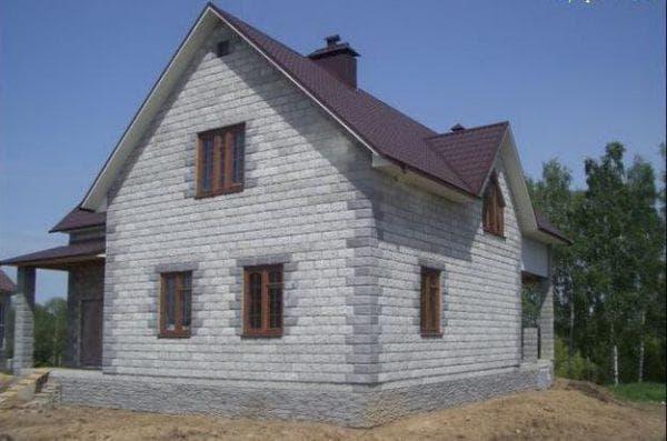 дачный дом из пеноблоков 8х12