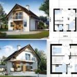 Планировка домов размерами 6 на 6 с мансардой