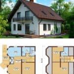 Отличная планировка дома 8х10: проекты