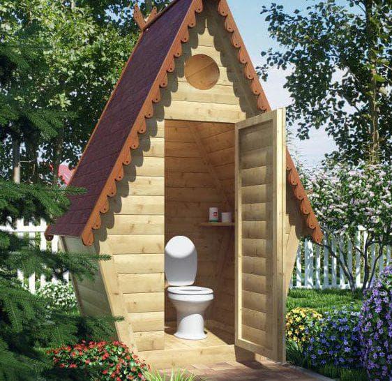 туалет на даче с унитазом